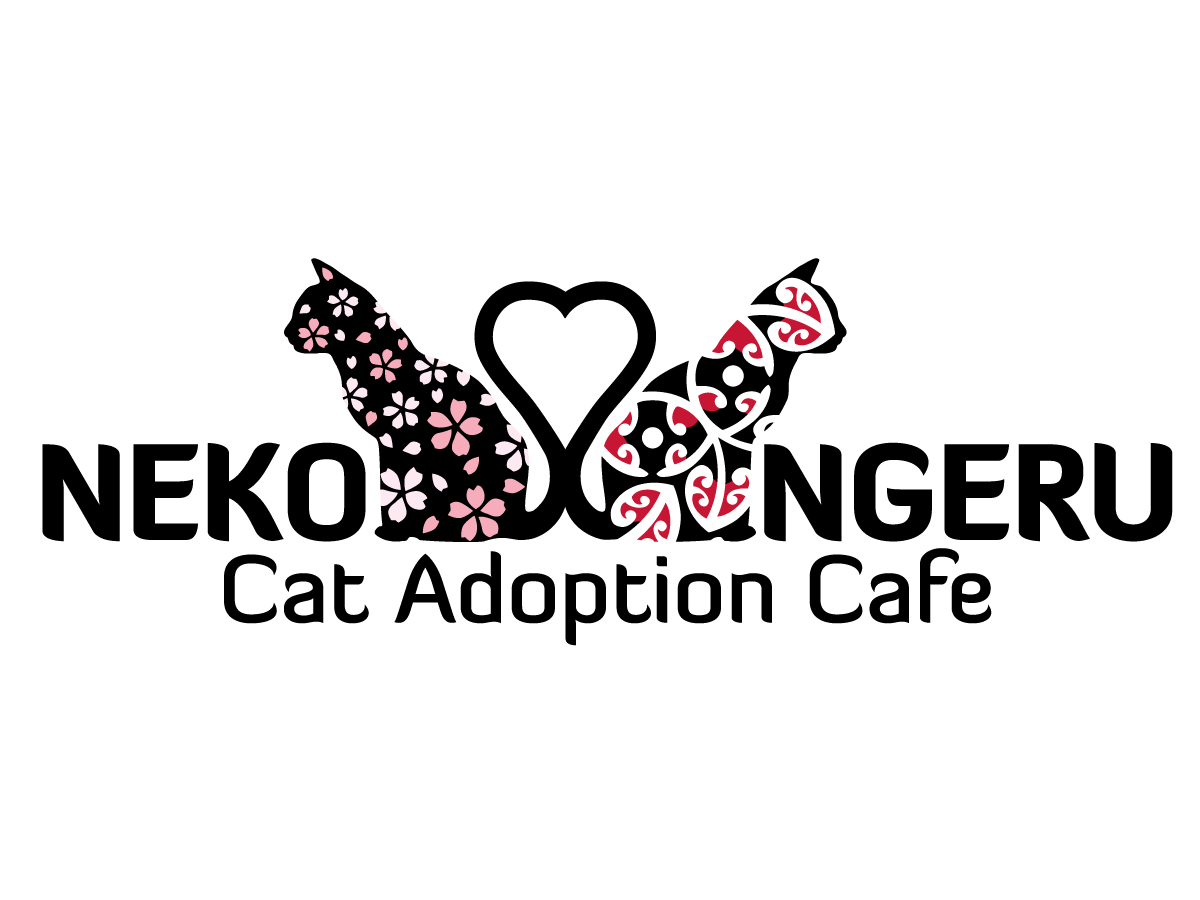 Neko Ngeru Cat Cafe Logo Design